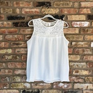 NWT Max Studio White Sleeveless Top Size M